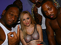 Slutty Aiden Starr gets fucked by couple big black dicks
